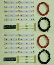 s542-10-pc LED Iluminación Del Coche 100mm Blanco Cálido analógico + DIGITAL