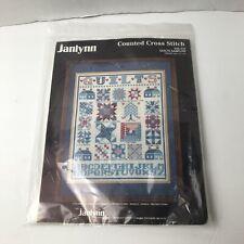 Vintage NOS Janlynn Counted Cross Stitch Quilts Sampler 50519
