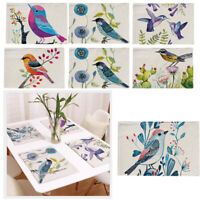 Placemats Magpie Bird 6 Pattern Non-slip Dining Table Dinner Serving Mats