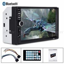"""New listing New 7"""" 2 Din Touch Screen Car Mp5 Player Bluetooth Stereo Fm Radio Usb/Tf Aux In"""