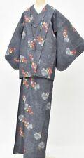 =Japanese vintage Kimono + Haori / women / 64.1inc./ Wool 3nfuji29121