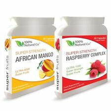 DOUBLE VALUE PACK - Raspberry Ketones and African Mango - Weight Loss Pills