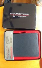 MEN'S ROUNDTREE & YORKE BLACK SLIM POCKET WITH WING WALLET NEW IN BOX