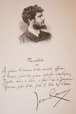 GRAVURE SUR BOIS JEAN RAMEAU POESIE ALBUM MARIANI 1894 AUTOGRAPHE