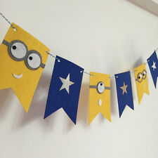 Minions Felt Bunting Banner Flag Happy Birthday Party Hanging Decoration