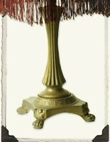 Victorian Trading Co Claw foot Metal Lamp Base Gold Tone Free Ship NIB