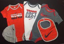 Air Nike Baby BOYS 5-piece GIFT set Bodysuit, Cap, and Bib Multicolor 9-12 M