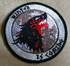 """3.5"""" GAME OF THRONES House of Stark WINTER IS COMING Round Logo Iron-on PATCH!"""