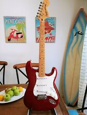 Fender Squier Standard Stratocaster in Metallic Red, Excellent Condition