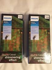 Philips SHIMMERING EFFECT Motion Projector Red & Green Christmas Holiday 2 boxes