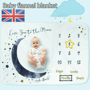 Newborn Baby Monthly Growth Photo Milestone Blanket Photography Background Props
