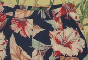 Womens Vtg 90s Polo Country RALPH LAUREN Floral Shorts Made In USA 12