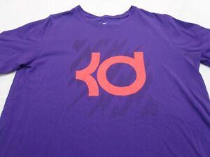 NIKE DRI-FIT Purple KD KEVIN DURANT Basketball T-Shirt  Youth   XL Athletic Cut