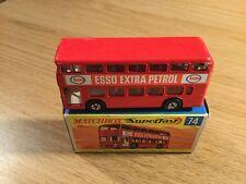 Vintage Matchbox Superfast No 74 Daimler Bus Esso