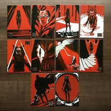 2018 Topps Star Wars Galaxy Journey of Ahsoka Complete Set ~ 10 Cards