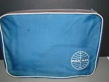 RARE PAN AMERICAN PAN AM AIRLINES ZIPPERED ENVELOPE STYLE BAG w/LOGO