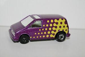 1985 Hot Wheels Metallic Purple & Yellow STUNT VAN ~ Ford Aerostar ~ Malaysia