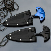 1Pcs Outdoor EDC Mini Double Edge Dagger Fixed Blade Neck Knife Camping Survival