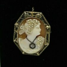 Cameo Pen/Pendant from 1920's 14 kt. Gold Italian Carved