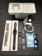 Apple Watch Stainless Steel 42mm w/ Extras - bands, charging stand, cases