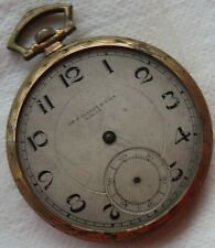 Tissot Pocket watch open face gold plated case 46 mm. in diameter