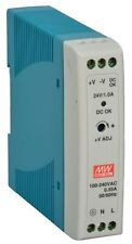 """MEAN WELL MDR-20-24 AC to DC DIN-Rail Power Supply 24V 1 Amp 24W 1.5"""""""