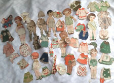 """7 Antique Paper Dolls 1920s """"Pictorial Review"""" Dolly Dingle &Friends, sold as is"""
