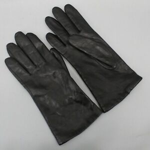 Fownes Black Leather Microfiber Lined Women's Leather Gloves Size 8