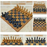 Soviet Wood Chess Set Russian Vintage USSR Antique 1960 30cm 11.8in