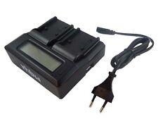 Cargador doble 240V + coche + LCD para Canon BP-807, BP-808, BP-809