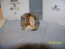 SWAROVSK CRYSTAL MEMORIES BOOK CLOCK RETIRED FIGURINE NEW IN BOX 9448NR000011