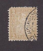 Switzerland stamp #60, used, 1881, SCV $30.00