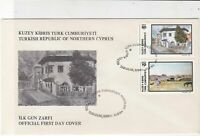Turkish Federated Cyprus 1984 House + Countryside FDC Stamps Cover Ref 23640