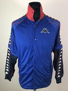 Vintage KAPPA Blue Track Jacket Men's Size S Detachable Sleeves Tape Arm Logo