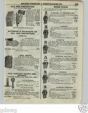 1922 PAPER AD 6 PG Champion Spark Plug X Ford Splitdorf Chart Specs Store Chest