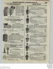 1922 PAPER AD 6 PG Champion Spark Plug X Ford Splitdorf Chart Specs Store Chest