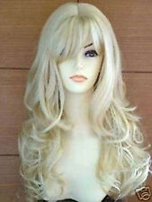 HESW56  pretty style Long blonde natural hair curly wigs for modern women wig