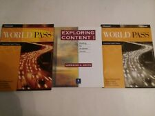 EXPLORING CONTENT, WORLD PASS, PATHWAYS + 3 OTHER READING BOOKS - FREE SHIPPPING