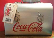 SILVER COCA COLA (COKE) METAL/TIN  LUNCH BOX.