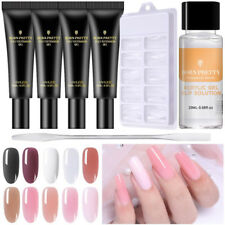 BORN PRETTY Quick Extension Builder Poly UV Gel Nail Polish Dual Forms Brush Set