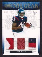 2010 National Treasures NFL Gear Triple Patch #25 Ben Tate 06/49 Houston Texans