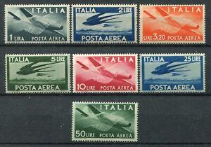 ITALIA 1945-46 POSTA AEREA DEMOCRATICA  SERIE COMPLETA  MNH** SASSONE S1526