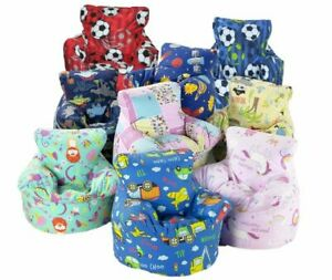 Kids Childrens Character Bean Bag Seat Chairs Fully Filled 2 sizes & 9 Designs