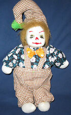 Collectible Porcelain Face Clown Stuffed Body Collectors Item