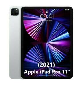 """Apple iPad Pro 2021 11"""" M1 Wifi 128GB Tablet NUOVO Originale Silver MHQT3"""