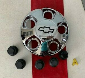 #A 1) 1996-2000 Chevrolet Astro Wheel Center Hub Cap Chrome Bow-Tie OEM 15697613