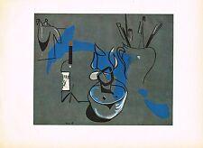 1940s Original Vintage Francesco Bores Nature Morte Offset Litho Art Print