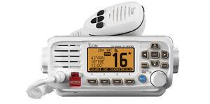 ICOM IC-M330GE WHITE FIXED MOUNT VHF/DSC MARINE RADIO WITH EXTERNAL GPS