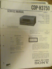 Sony CDP-H3750  Compact Disk Player  ORIGINAL Service Manual