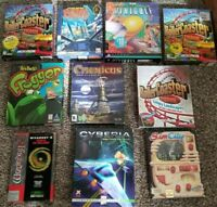 Lot of 10 Big Box PC Games - Rollercoaster Tycoon, Star Wars, SimCity, Wizardry